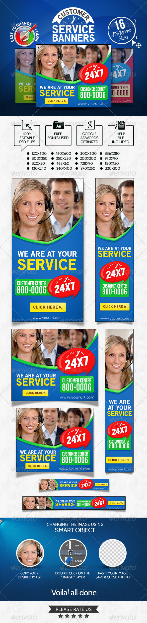 GraphicRiver Customer Service Banner set 7082588