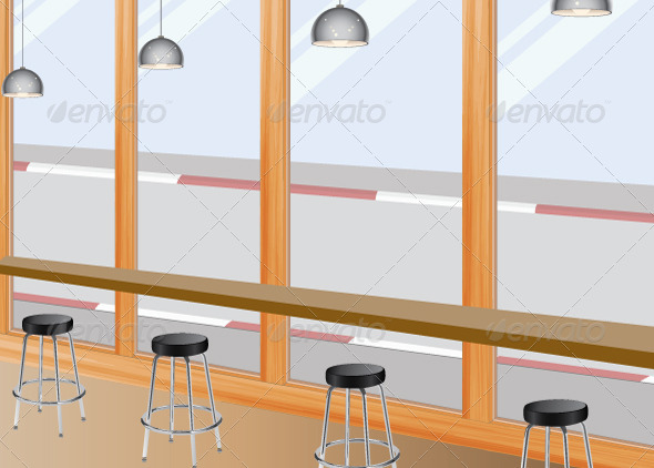 GraphicRiver Coffee Bar Seat 7082611
