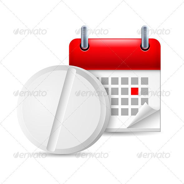 GraphicRiver Pill and Calendar 7082759