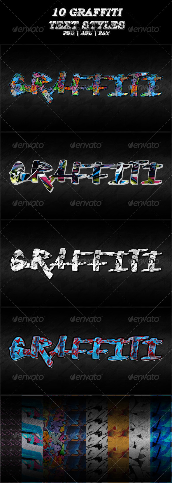GraphicRiver 10 Different Graffiti Text Styles 7082832