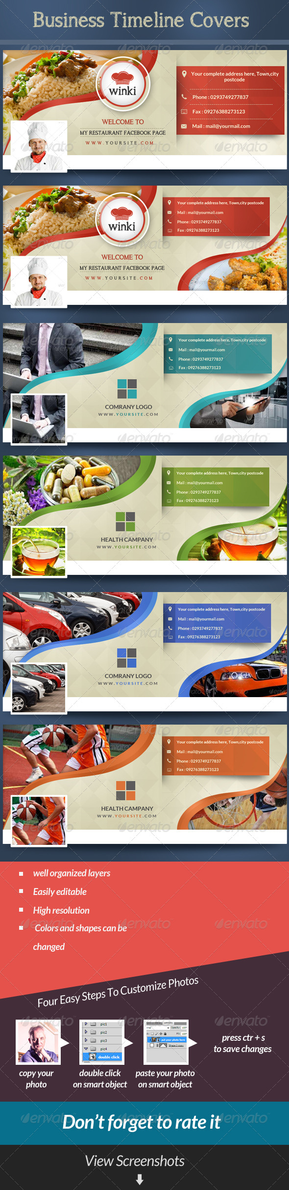GraphicRiver Business Facebook Timeline Covers 7083546