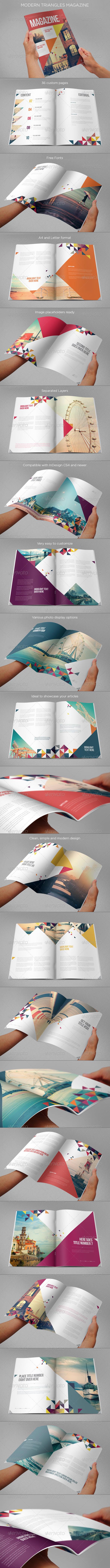 GraphicRiver Modern Triangles Magazine 7083597
