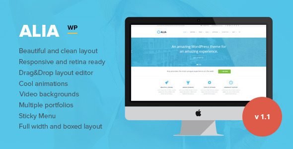 Alia - Responsive Multi-Purpose WordPress Theme