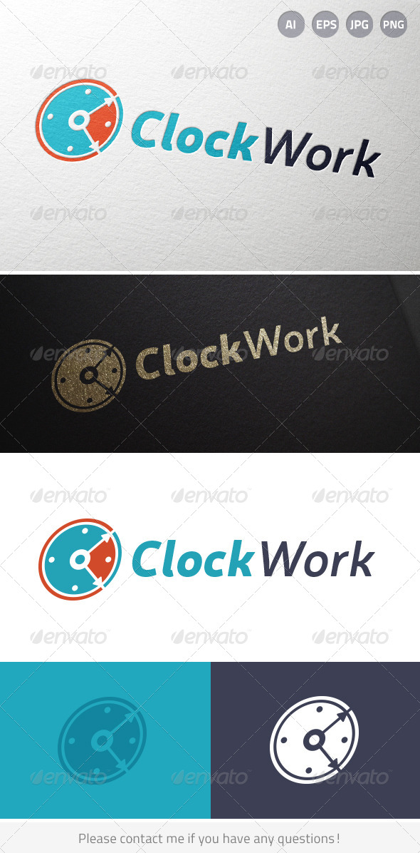 Clock Work Time Logo