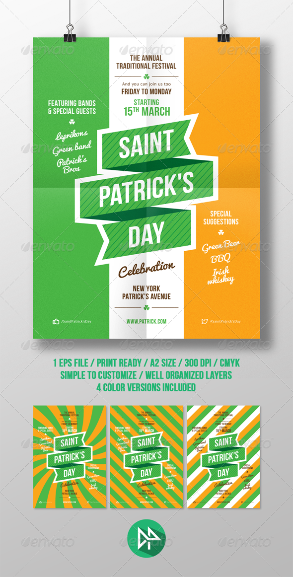 GraphicRiver St Patrick s Party Poster Template 7084255
