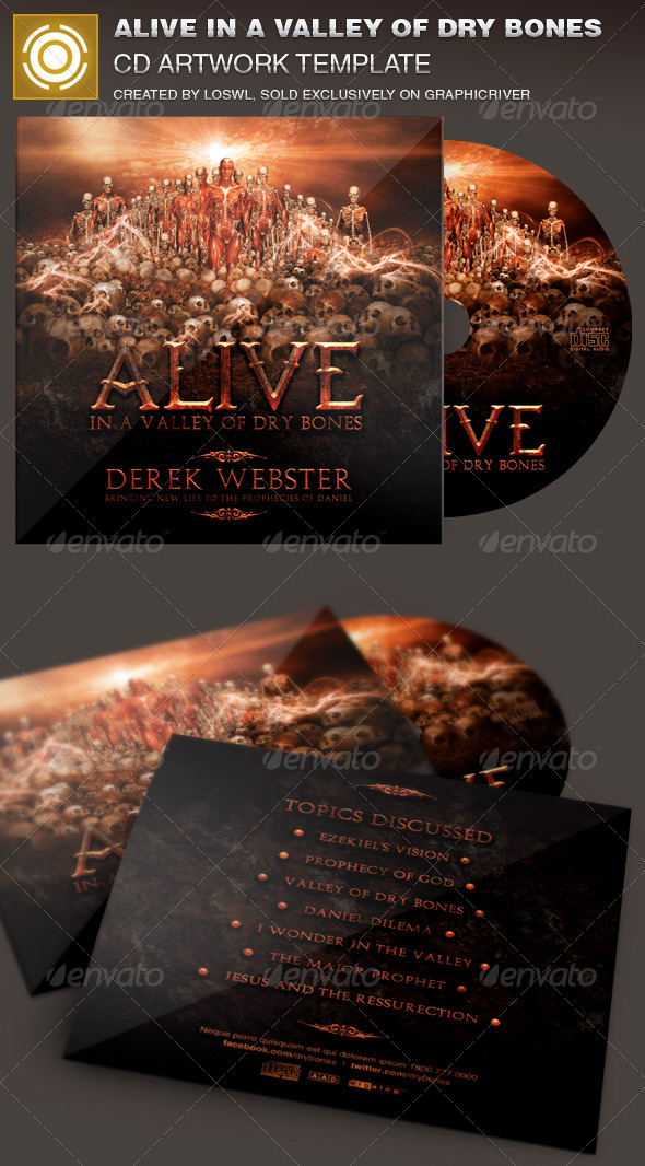 GraphicRiver Alive in a Valley of Dry Bones CD Artwork Template 7084256