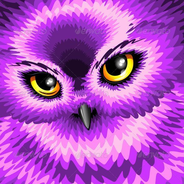 GraphicRiver Pink Owl Eyes 7084342