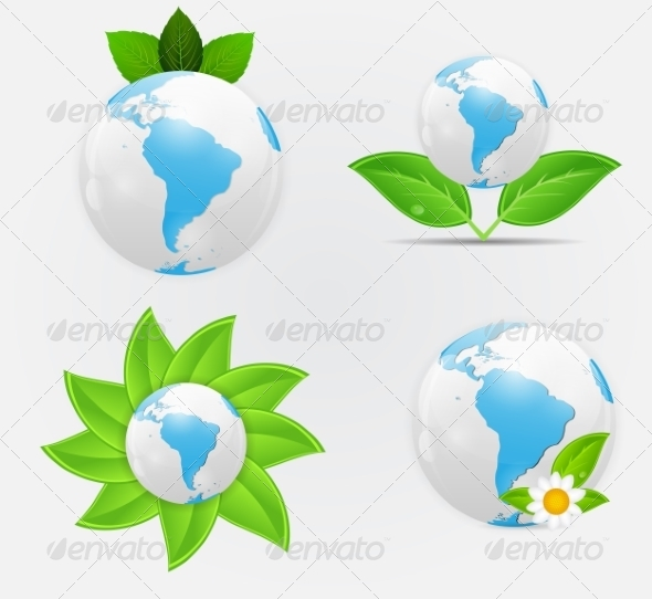 GraphicRiver Green Eco Planet 7084482