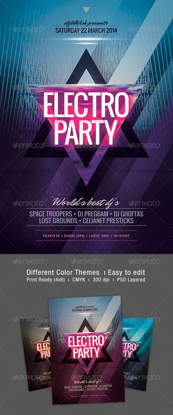 GraphicRiver Electro Flyer 7084816