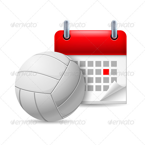 GraphicRiver Volleyball and Calendar 7084859