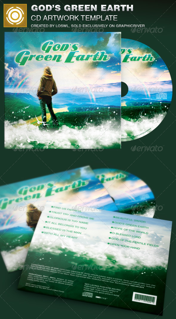 GraphicRiver God s Green Earth CD Artwork Template 7084887