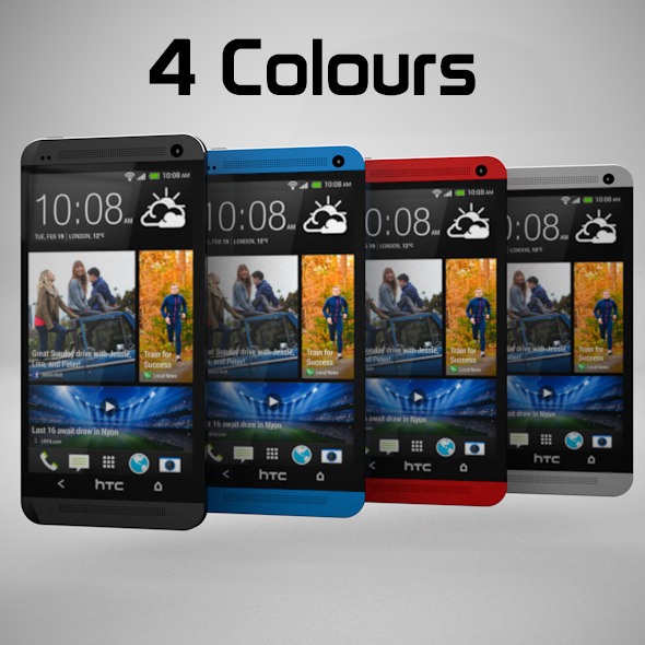 HTC One 2013-14 - 3DOcean Item for Sale