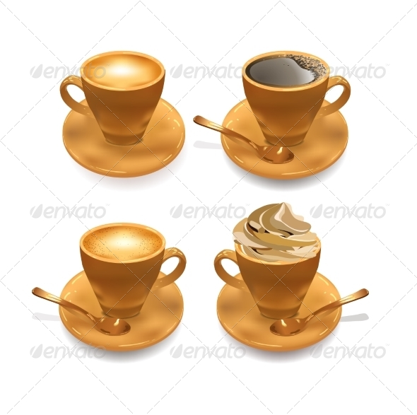 GraphicRiver Set of Isolated Coffee Cups 7085309