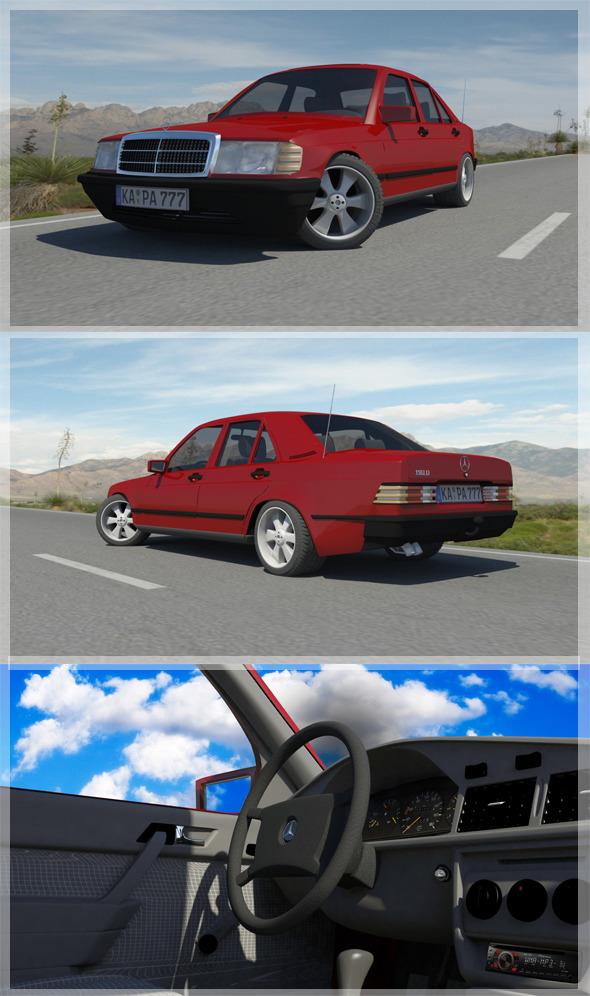 3DOcean 1982-1993 Mercedes Benz C190D w201 7085421