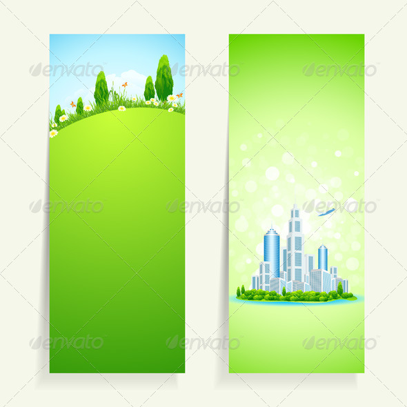 GraphicRiver Two Vertical Banners with Nature 7086331