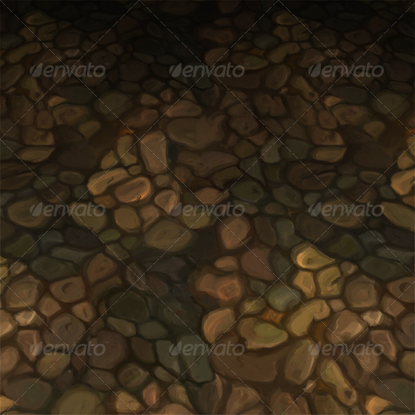 Stone Floor Tile V2 - 3DOcean Item for Sale