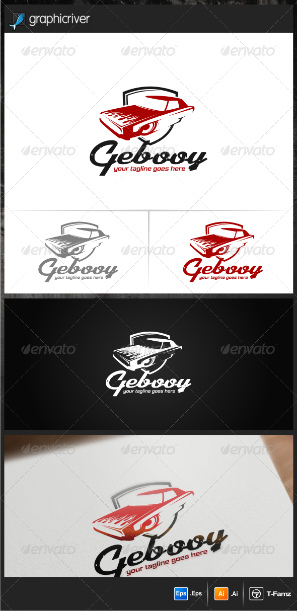 GraphicRiver Gebooy Car Club Logo Templates 7086870