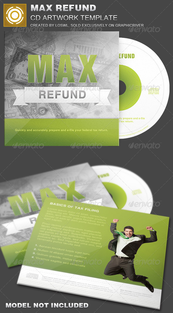 GraphicRiver Max Refund CD Artwork Template 7087000