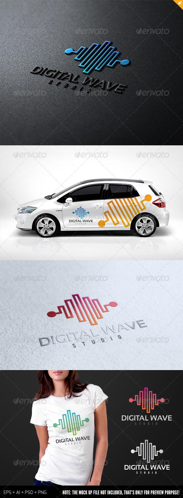 GraphicRiver Digital Wave Studio Logo 7087099