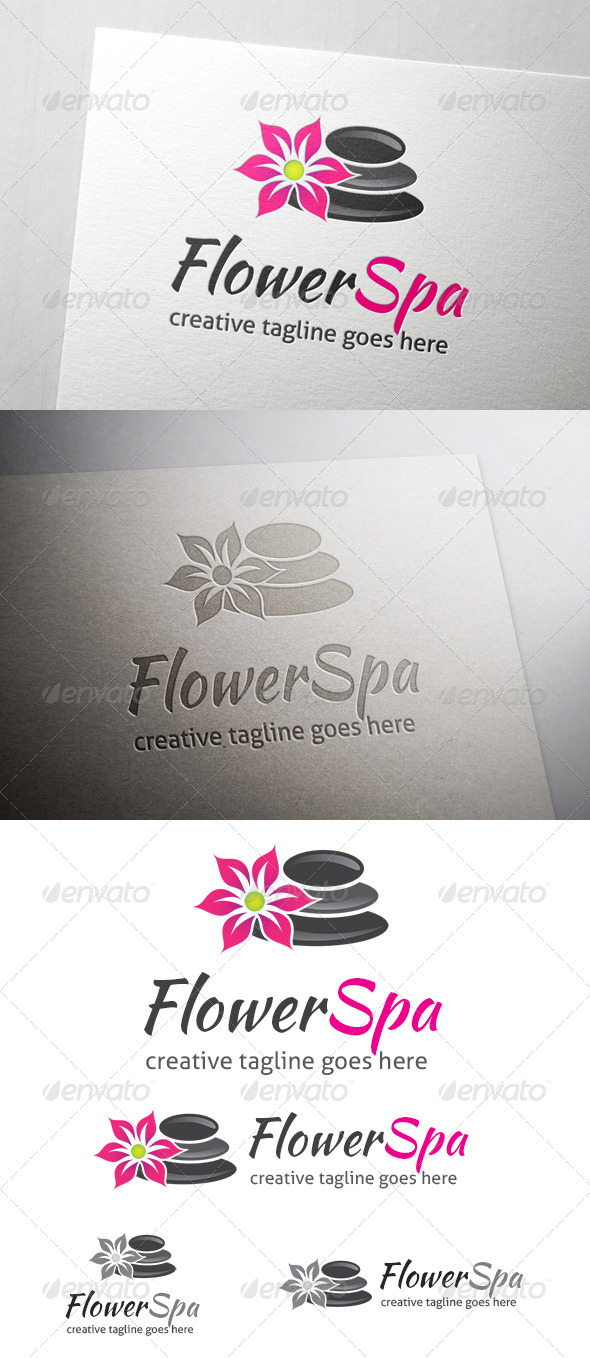 GraphicRiver Flower Spa Logo 7087124