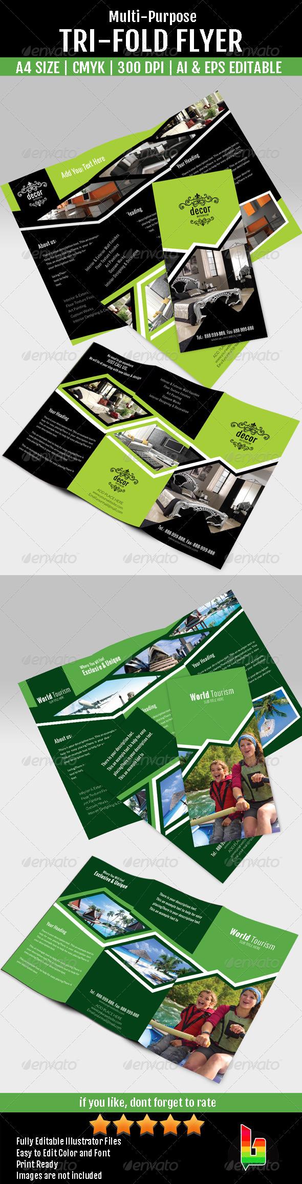 GraphicRiver Multi-Purpose Tri Fold Flyer 7087132