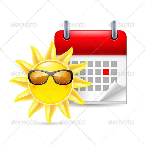 GraphicRiver Sun and Calendar 7087133