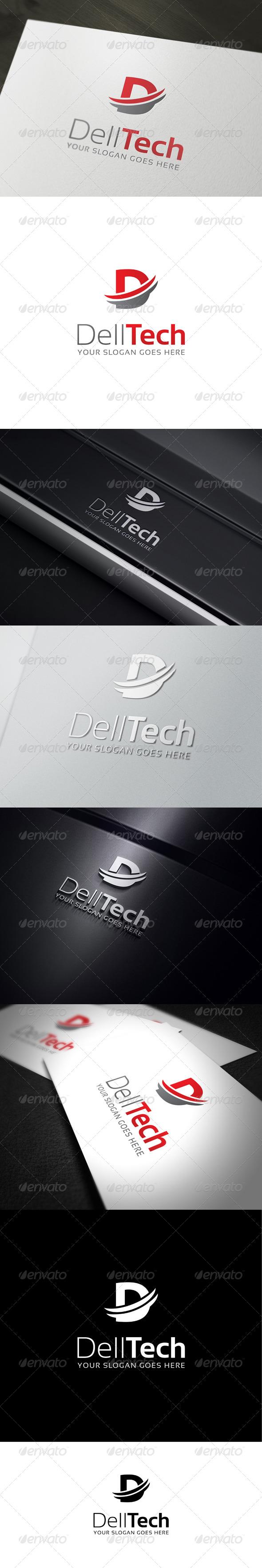 GraphicRiver DellTech D Letter Logo Template 7087139