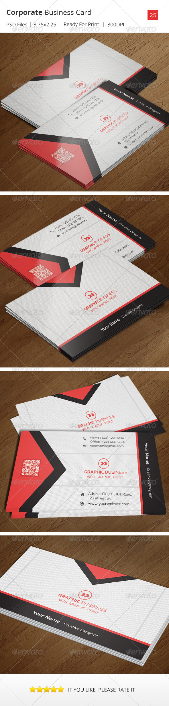 GraphicRiver Corporate Business Card v.25 7087178