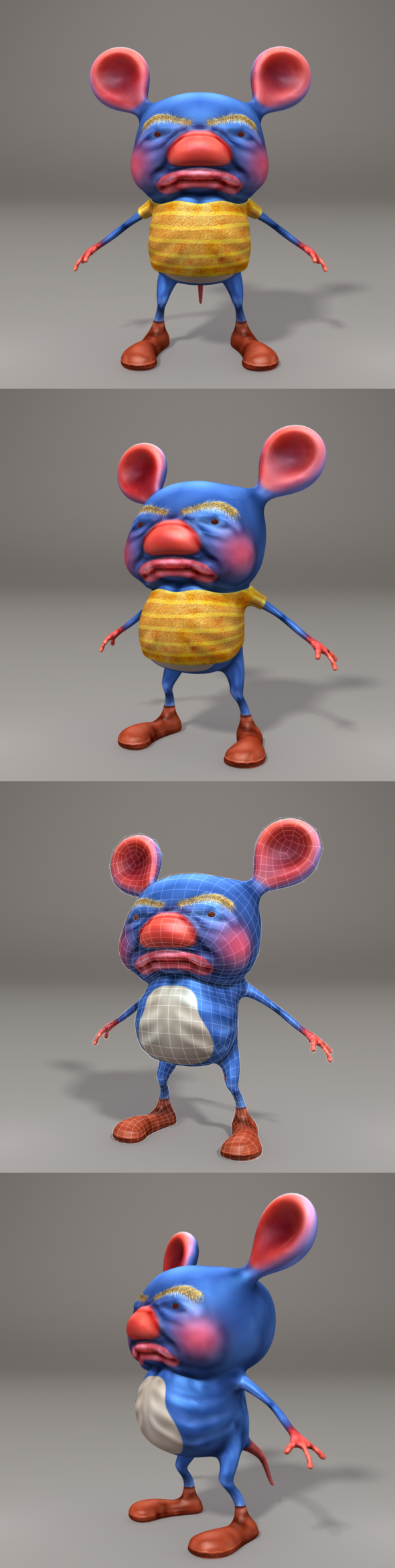 3DOcean 3D Stylized Rat Character 7087180