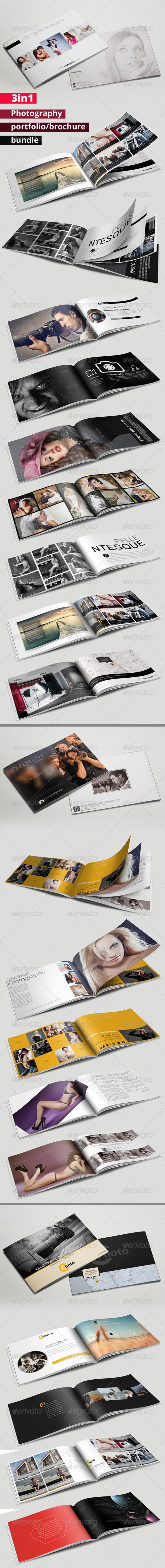 GraphicRiver 3in1 Photography Portfolio or Brochure Bundle 7087406