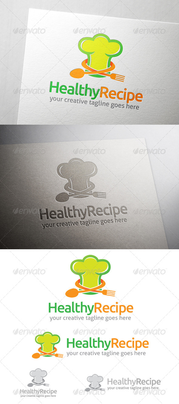 GraphicRiver Healthy Recipe Logo 7087413
