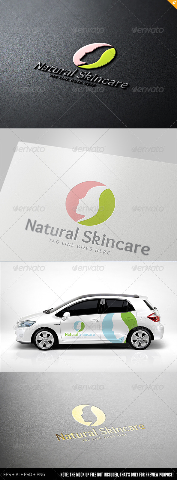 GraphicRiver Natural Skincare Logo 7087414