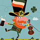 Leprechaun Dancing with Irish Shamrock - GraphicRiver Item for Sale