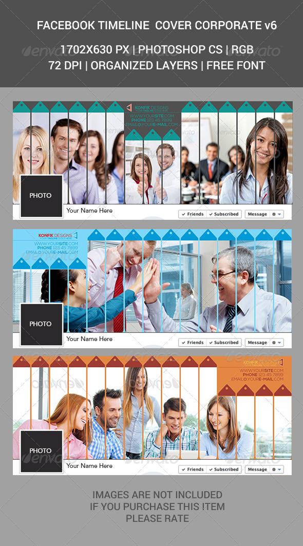GraphicRiver Facebook Timeline Cover Corporate v6 7088184