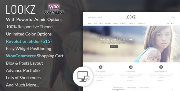 ThemeForest Lookz WooCommerce Parallax Theme 7088200