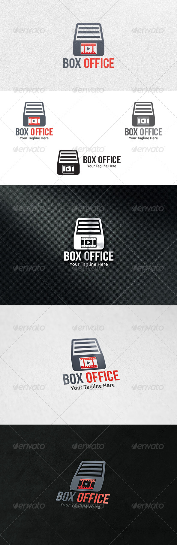 GraphicRiver Film Box Logo Template 7088229