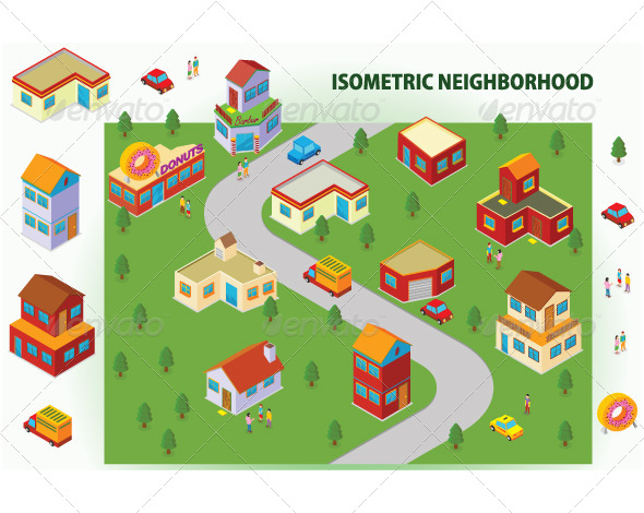 GraphicRiver Isometric Neighborhood 7088231