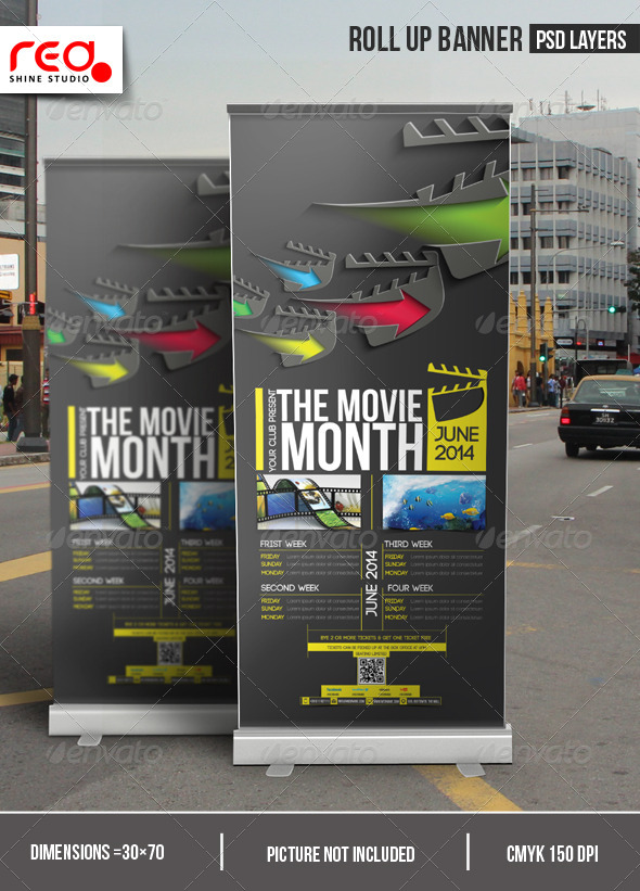 GraphicRiver The Movie Month Promotion Roll-up Banner 7088408