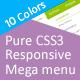 Pure CSS3 Responsive Mega menu