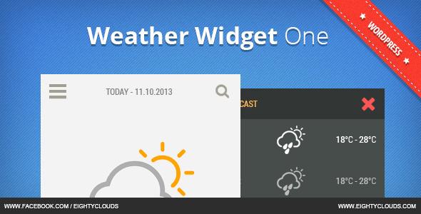 CodeCanyon Weather Widget One 7066242