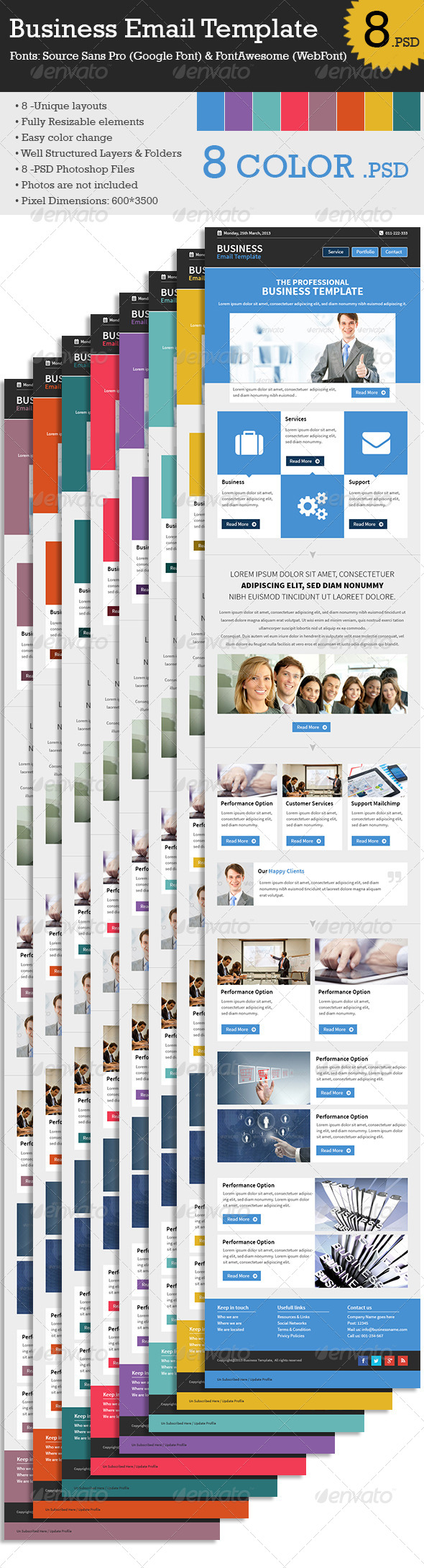 GraphicRiver Business Email Template 7089042