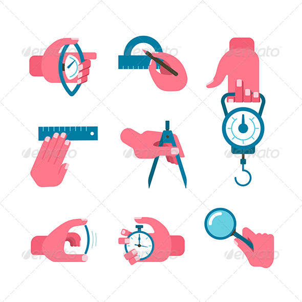 GraphicRiver Hand-held Measurement Tools 7089045