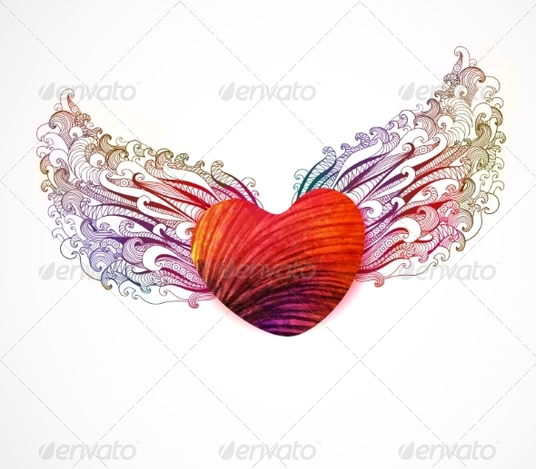 GraphicRiver Abstract Heart with Wings 7089600