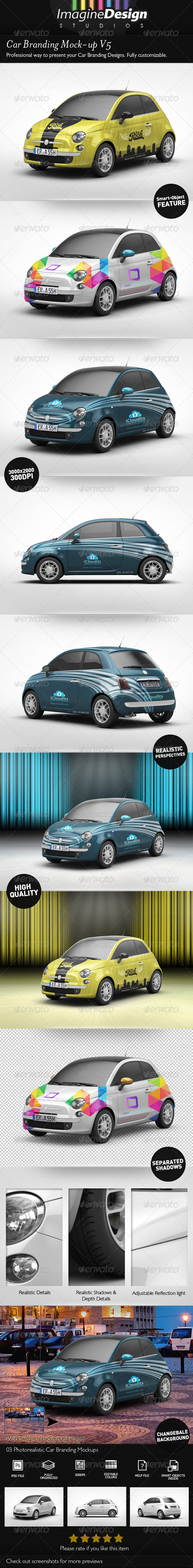 GraphicRiver Car Branding Mock-Up V5 7089752