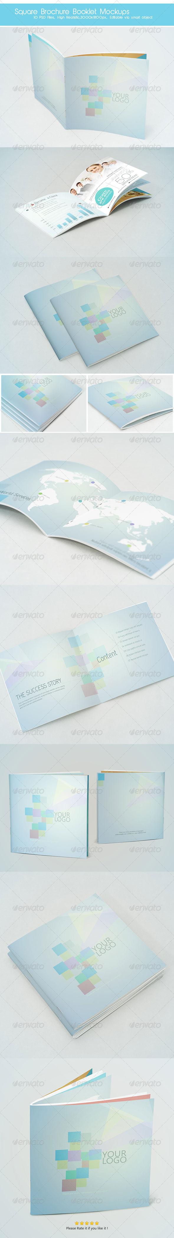 GraphicRiver Square Brochure Booklet Mockups 7089792