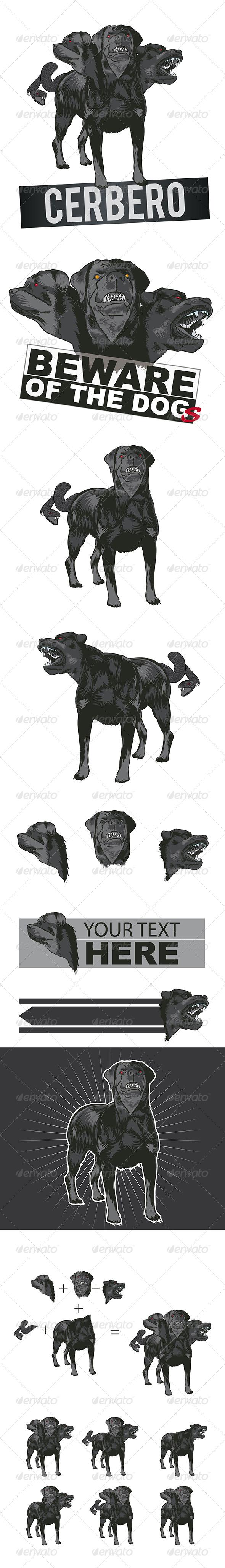 GraphicRiver Dog Mascot Cerberus 7025544