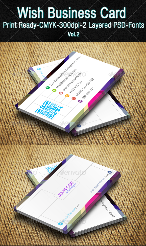 GraphicRiver Wish Business Card Vol 02 7061962