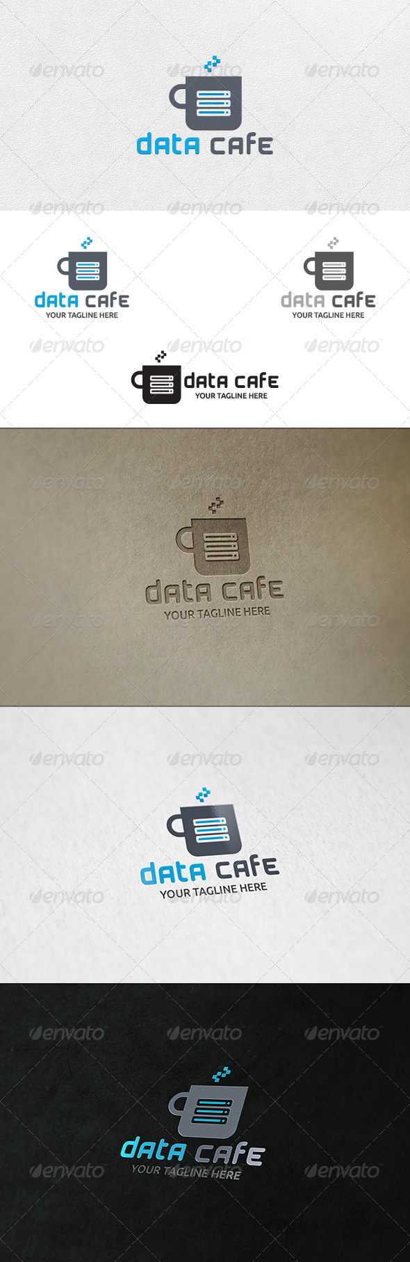 Data Cafe Logo Template