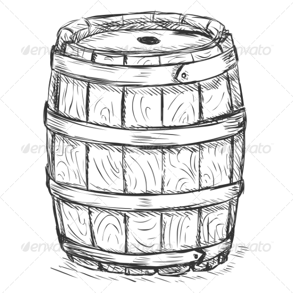 GraphicRiver Old Wooden Barrel 7090539