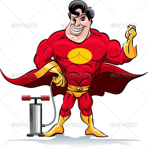 GraphicRiver Pumping Superhero 7090544